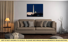 Load image into Gallery viewer, Gallery Wrapped Canvas, Washington Dc Skyline Including Lincoln Memorial Washington Monument And The