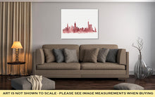 Load image into Gallery viewer, Gallery Wrapped Canvas, Pink Watercolor Skyline Of New York City In USA