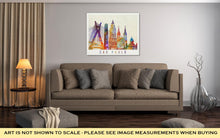 Load image into Gallery viewer, Gallery Wrapped Canvas, Sao Paulo Landmarks In Artistic Watercolor Poster