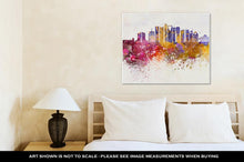 Load image into Gallery viewer, Gallery Wrapped Canvas, Riyadh V2 Skyline Artistic Abstract In Watercolor