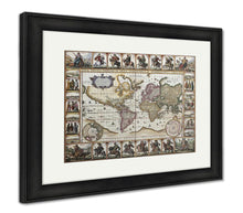 Load image into Gallery viewer, Framed Print, World Old Map Created By Nicholas Visscher Published In Amsterdam 1652