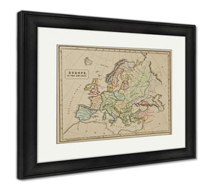 Framed Print, Ancient Map Of The World Published By George Philip And Son At