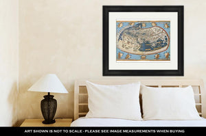 Framed Print, Map Of The World In Those Days Known After Claudius Ptolemys Work Egyptian