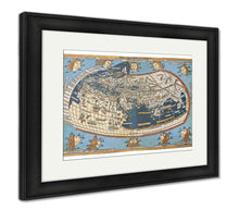 Load image into Gallery viewer, Framed Print, Map Of The World In Those Days Known After Claudius Ptolemys Work Egyptian