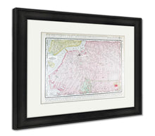 Load image into Gallery viewer, Framed Print, Detailed Antique Street Map Brooklyn New York Ny
