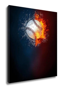 Gallery Wrapped Canvas, Baseball Sports Tournament Modern Poster Template