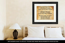 Load image into Gallery viewer, Framed Print, Inspirational Quote