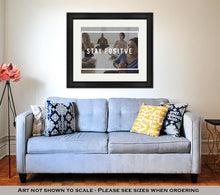 Load image into Gallery viewer, Framed Print, People Having Yoga Class