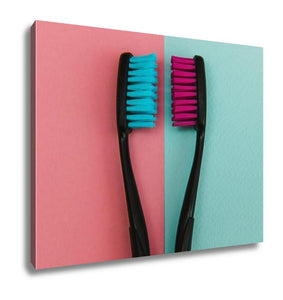 Gallery Wrapped Canvas, Crazy Colored Toothbrushes