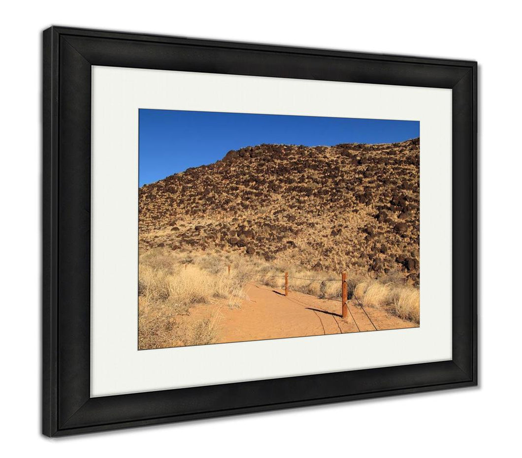 Framed Print, Rinconada Trail Petroglyph National Monument Albuquerque New Mexico