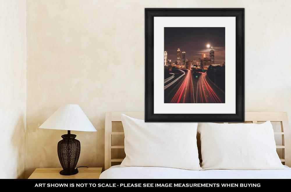 Framed Print, Atlanta Midnight Skyline