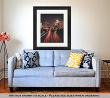 Load image into Gallery viewer, Framed Print, Atlanta Midnight Skyline