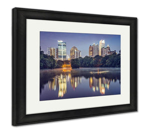Framed Print, Atlanta Georgia USA At Piedmont Park