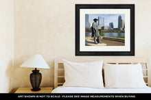 Load image into Gallery viewer, Framed Print, The Statue Of Stevie Ray Vaughan In Austin Texas