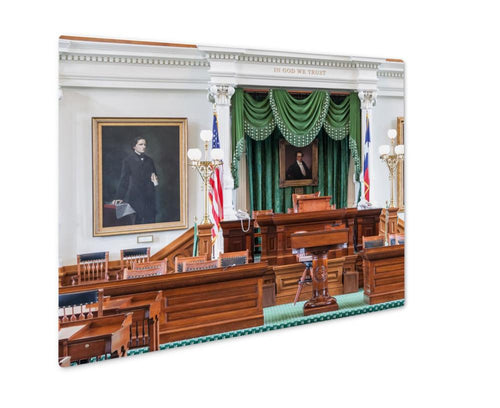 Metal Panel Print, Senate Chamber In Texas State Capitol In Austin Tx