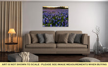 Load image into Gallery viewer, Gallery Wrapped Canvas, Beautiful Bluebonnets Field At Sunset Near Austin Texas In Spring