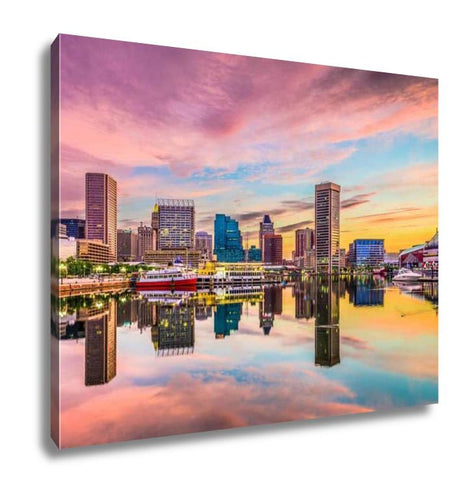 Gallery Wrapped Canvas, Baltimore Maryland Skyline