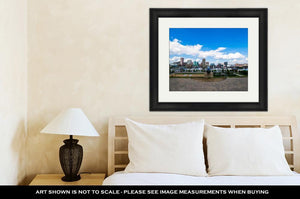 Framed Print, Federal Hill Park Overlooking Batimore City Maryland
