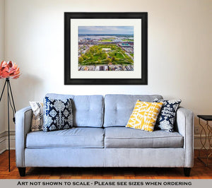 Framed Print, View Of Riverside Park In Baltimore Maryland