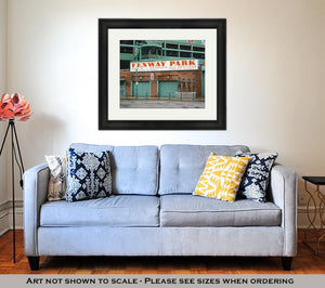 Framed Print, Fenway Park Boston Home Of The Boston Red Sox Boston Massachusetts April 3 2017