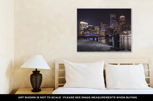 Load image into Gallery viewer, Gallery Wrapped Canvas, Boston Harbor And Financial District At Sunset In Boston Massachusetts