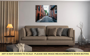 Gallery Wrapped Canvas, Narrow Street In The North End Of Boston Massachusetts