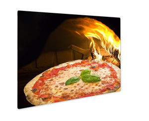 Metal Panel Print, Pizza In A Pizza Oven