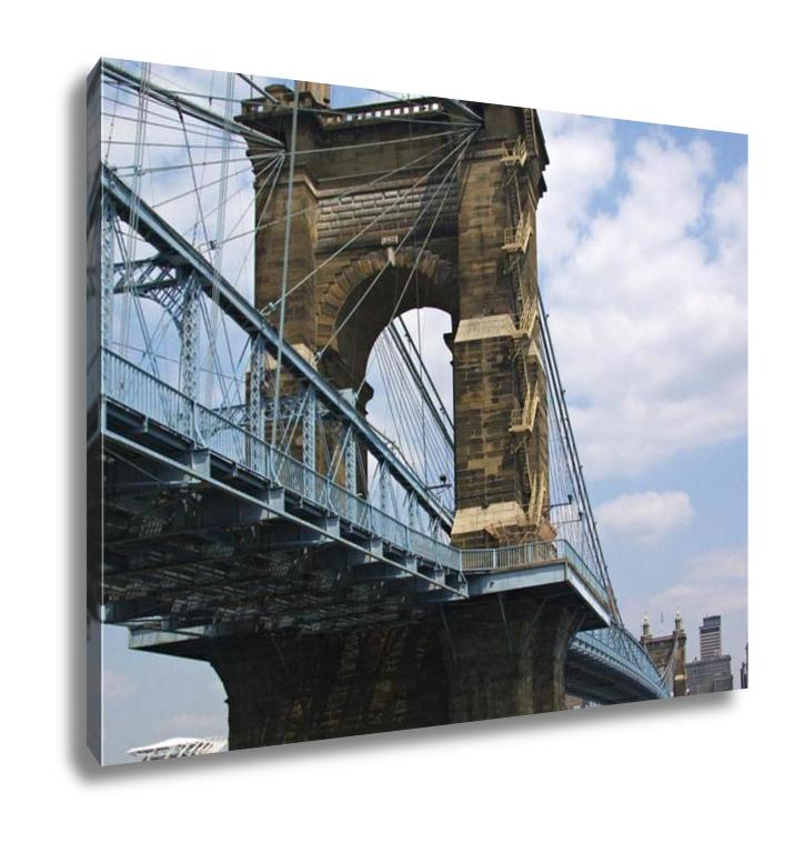 Gallery Wrapped Canvas, John A Roebling Bridge