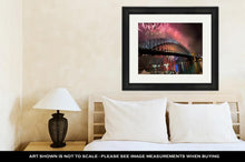 Load image into Gallery viewer, Framed Print, Sydney Harbour Bridge New Year Fireworks