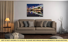 Load image into Gallery viewer, Gallery Wrapped Canvas, Cleveland City Skyline And Detriotsuperior Bridge At Night Across The Cuyahoga