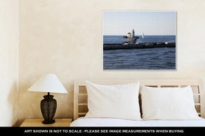 Gallery Wrapped Canvas, Yacht By Cleveland Harbor West Pierhead