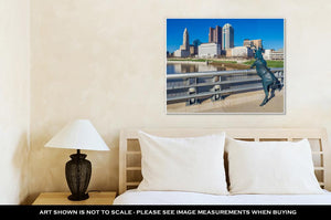 Gallery Wrapped Canvas, Columbus Ohio Skyline