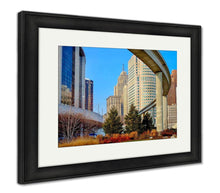 Load image into Gallery viewer, Framed Print, Detroit Rail Transit