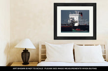 Load image into Gallery viewer, Framed Print, Detroit River Shipping