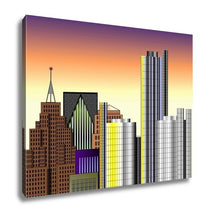Load image into Gallery viewer, Gallery Wrapped Canvas, Detroit Downtown Illustration