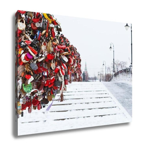 Gallery Wrapped Canvas, Love Tree On Luzhkov Bridge In Moscow