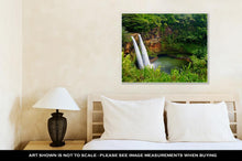Load image into Gallery viewer, Gallery Wrapped Canvas, Majestic Twin Wailua Waterfalls On Kauai