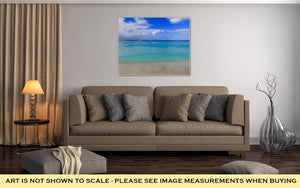 Gallery Wrapped Canvas, Beautiful Multicolor Turquoise Blue Tropical Sea Of Waikiki Beach Honolulu
