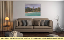 Load image into Gallery viewer, Gallery Wrapped Canvas, Coconut Palm Tree On The Sandy Beach In Kapaa Hawaii Kauai