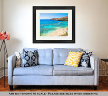 Load image into Gallery viewer, Framed Print, Snorkeling Tropical Paradise Hanauma Bay In Oahu Hawaii