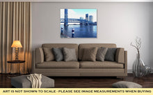 Load image into Gallery viewer, Gallery Wrapped Canvas, Downtown Jacksonville Fl Bridge Over The St Johns River