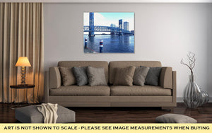 Gallery Wrapped Canvas, Downtown Jacksonville Fl Bridge Over The St Johns River