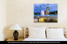 Load image into Gallery viewer, Gallery Wrapped Canvas, Jacksonville Florida City Lights At Night With Fountain