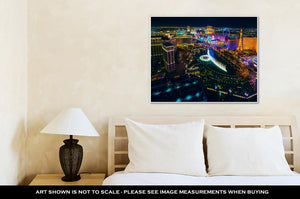 Gallery Wrapped Canvas, The Las Vegas Strip As Seen From The Cosmopolitan Hotel With View Onto Bellagio