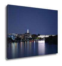 Load image into Gallery viewer, Gallery Wrapped Canvas, Panoramic Photo Of Washington D C Skyline At Night