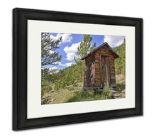 Load image into Gallery viewer, Framed Print, Vintage Log Cabin In Old Abandoned Mining Town