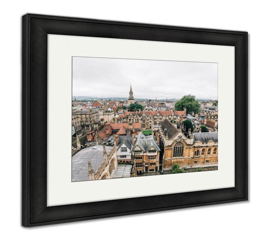 Framed Print, High Angle View Of Oxford