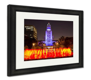 Framed Print, Los Angeles City Hall As Seen From The Grand Park