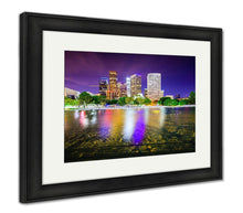 Load image into Gallery viewer, Framed Print, Los Angeles California USA Downtown City Skyline