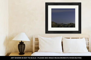 Framed Print, Night Stars Over San Gabriel Mountains